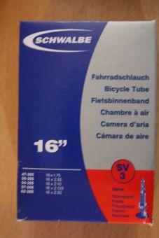 """Schwalbe Schlauch 16"""", SV"""